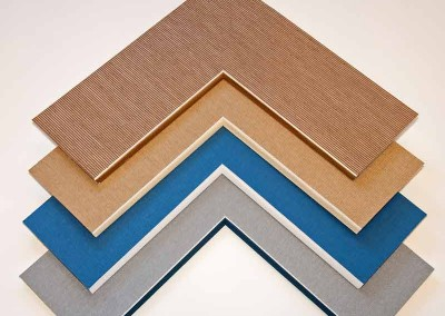 bevel accents for custom frames