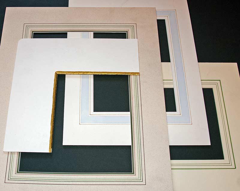 french mat samples for custom frames