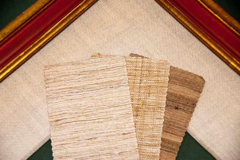 fabric mat sample with custom frame