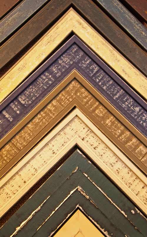 stressed wood custom frame samples