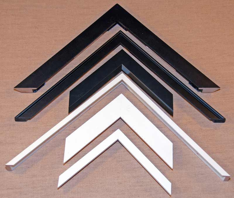black and white contemporary picture frame samples