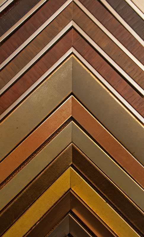 brown and gold contemporary frame samples