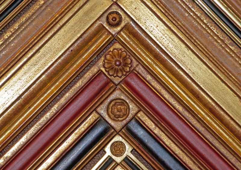 hand carved gold leaf custom frame samples