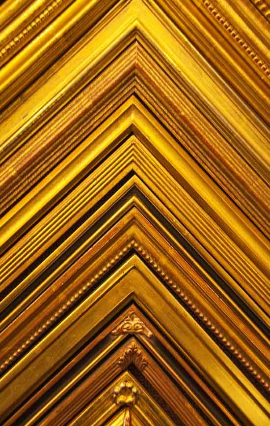 hand carved gold frame samples for custom frames