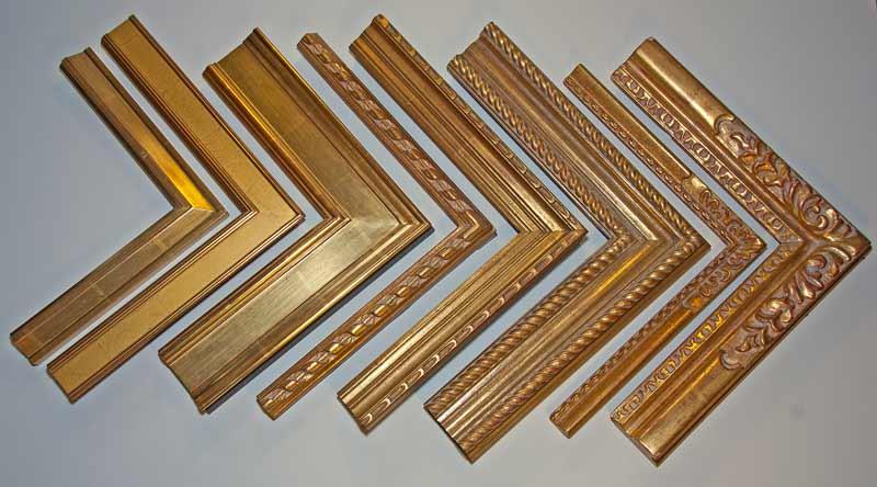 guilded gold hand carved custom frame samples