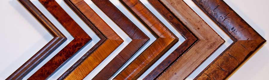 textured wood custom frame samples for custom framing