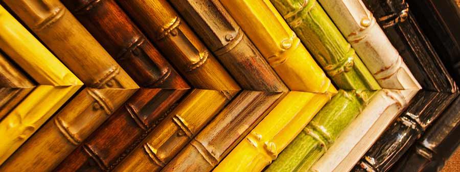 bamboo frame samples for custom framing