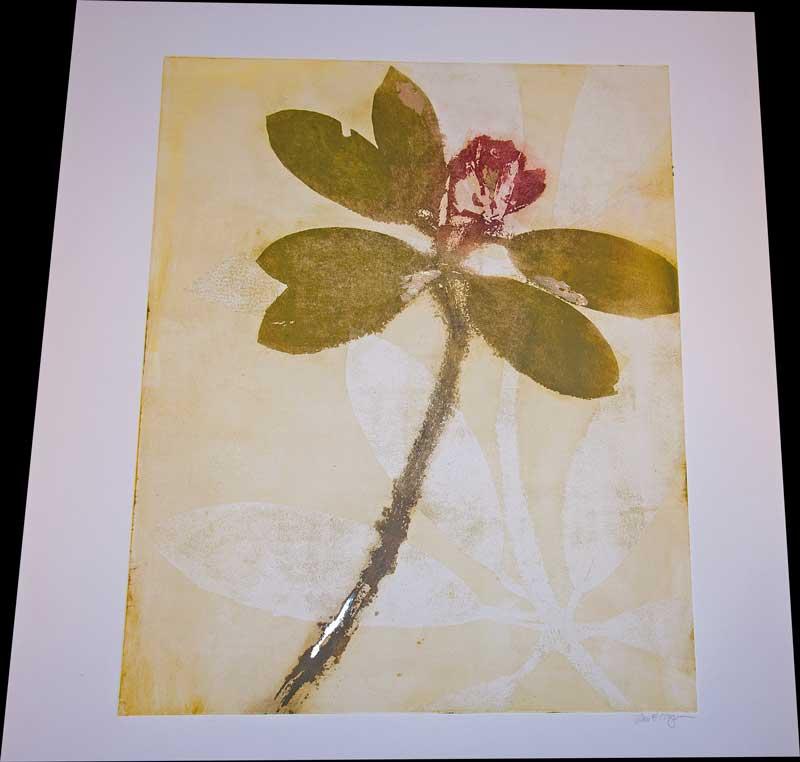 unframed artwork of floral print